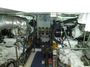 Ocean Alexander 64 Engine Room Forward