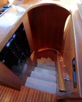 66' Symbol Pilothouse  Motoryacht Pilothouse Stairway to Cabins