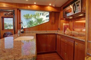 66' Symbol Pilothouse Galley Starboard