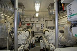 85' Symbol Yachtfisher 2010 Engine Room